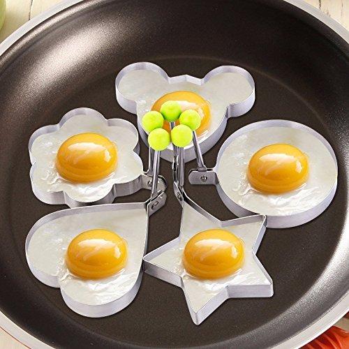 5 unids/set huevo molde Acero inoxidable molde para freír huevos o ...