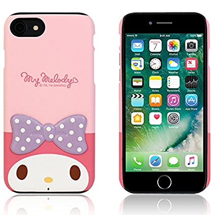iPhone 8 Plus/iPhone 7 Plus Case Hello Kitty Cute Diary Wallet Flip/Synthetic Leather/Anti-Shock/Mirror Cover for [ Apple iPhone7 Plus / iphone8 Plus ] - Twinkle White Ribbon Red WiLLBee