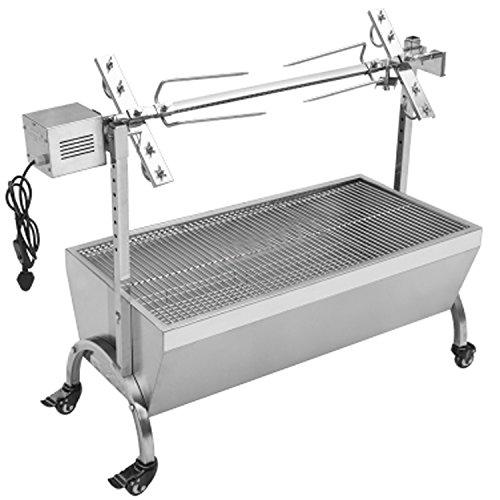 Generic 132LBS 35.43″ Hog Roast Machine BBQ Spit Roaster Rotisserie Grill Roasting Motor