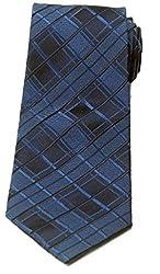 Zarrano Men's 100% Silk Navy/Blue Diamonds Tie