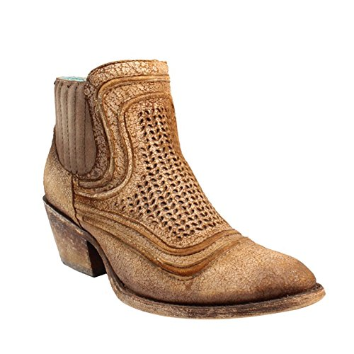 Womens Corral New - CORRAL New Women's C3143 Ankle Boot Sand Laser 9