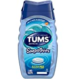 Tums Smoothies Antacid Calcium Supplement Peppermint - 140 Chewable Tablets