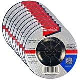 Makita 10 Pack - 4.5'' Grinding Wheel For Grinders - Aggressive Grinding For Metal - 4-1/2'' x 1/4 x 7/8-Inch
