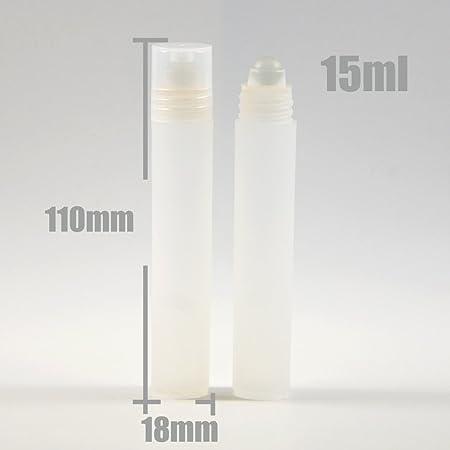 Rollo de plástico transparente Botellas de Perfume Roller Colonia Sport Perfume 15 ml vacío: Amazon.es: Hogar