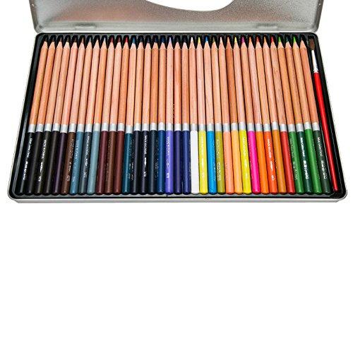 BoTen Color Pen Painting Pencil Pencils 36 Color Water Soluble Color Lead Professional Art Pen