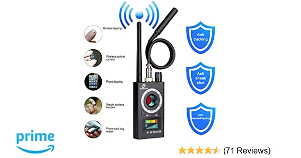 Anti Spy Detector, RF Detector & Camera Finder, Bug Detector, Upgraded RF  Signal Detector, KORKUAN GSM Tracking Device for Wireless Audio Bug Hidden