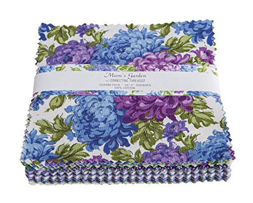 - Connecting Threads Print Collection Precut Quilting Fabric Bundle (Mum's Garden - 5