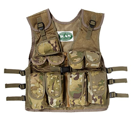 Kids Army Multi Terrain Camouflage Assault Vest (Camo Jacket Vest)