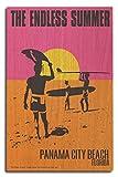 Panama City Beach, Florida - The Endless Summer Movie Poster (10x15 Wood Wall Sign, Wall Decor Ready to Hang)