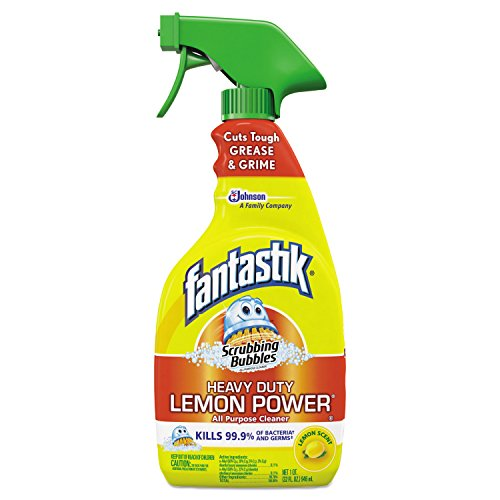 Fantastik 652513 Scrubbing Bubbles Lemon Power Antibacterial Cleaner, 32 oz Spray Bottle (Case of 8) 32 Ounce Bubble Bottle