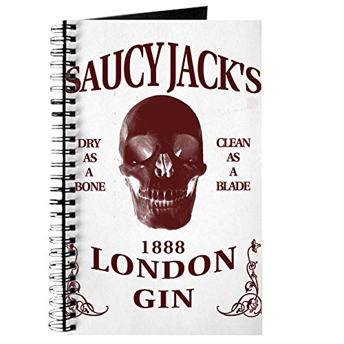 CafePress Saucy Jack's London Gin Spiral Bound Journal Notebook, Personal Diary, Dot Grid