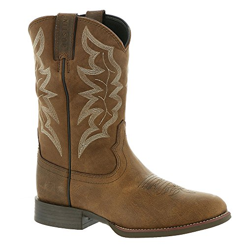 Justin Boots Men's Stampede 7221 Distressed Brown 12 D (Boot Cream Justin)
