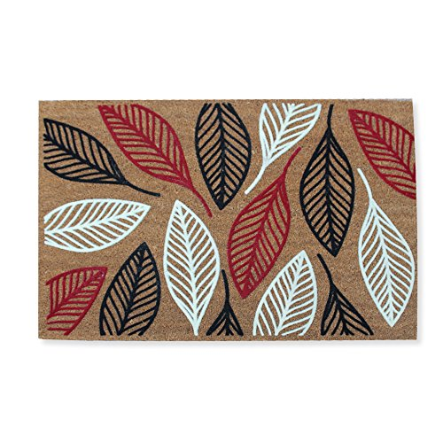 A1 Home Collections First Impression Flocked Doormat, Vilfred Leaf Coir, Large(24