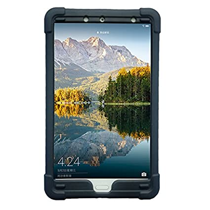 newest 1b354 8b3cf Huawei MediaPad M5 8.4 Tablet Case,MingShore Silicone Rugged Case with  Elastic Handtrap for Huawei M5 Cover Model SHT-AL09/W09 8.4 Inch Tablet  Bumper ...