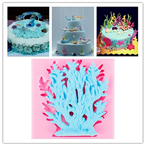 Joinor Sugarcraft Sea Coral Silicone Mold Fondant Mold Cake Decorating Tools Chocolate Mold