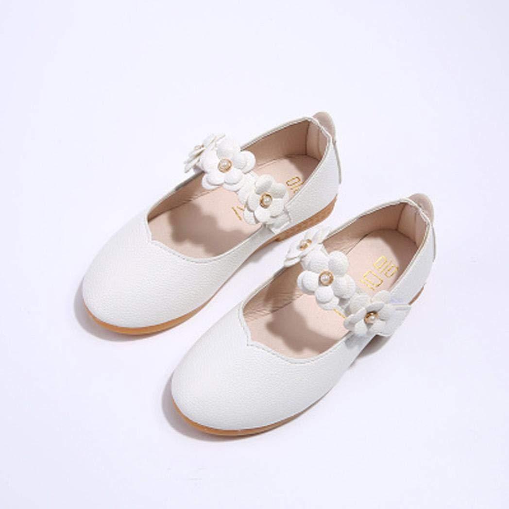 ZODOF Zapatos para niños Zapatos de niña de Flores de Moda Sólidos Zapatos Casuales a Juego con Todos Zapatos Zapatillas Respirable Mocasines Deportes ...