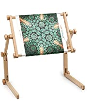 """Needlework Table and Lap Hands-Free Stand with Adjustable Frame Made of organic beech wood Tapestry cross stitch embroidery frame holder (11.8"""" x 15.7"""")"""