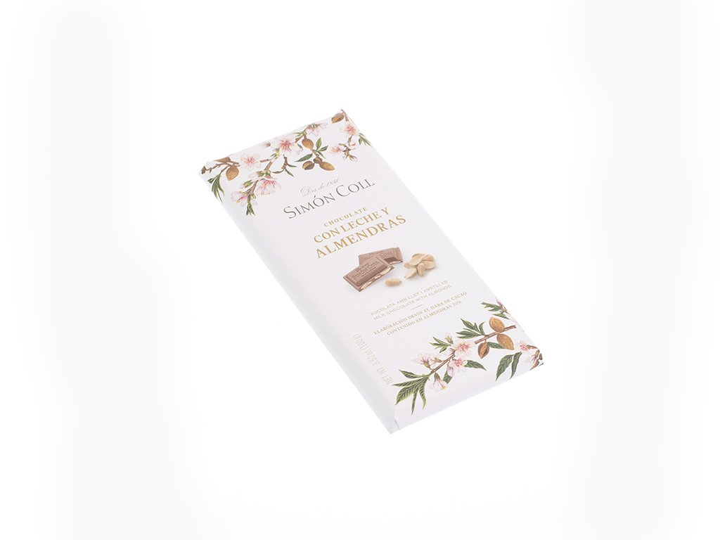 Amazon.com : Simón Coll Milk Chocolate with Almonds 100g : Grocery & Gourmet Food