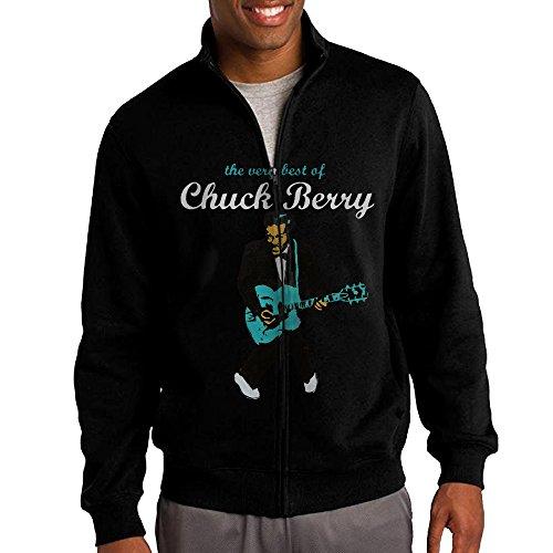 Rachel Berry Costumes - NHJH Men's Chuck Berry Zip-Up Hoodie