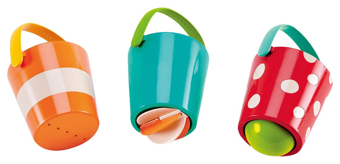 Hape E0205 Kids Little Splashers Happy Buckets Set Bath Toy