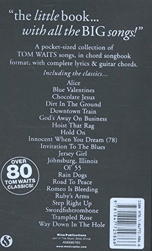 Amazon tom waits the little black songbook chordslyrics amazon tom waits the little black songbook chordslyrics 0884088453367 tom waits books stopboris Gallery