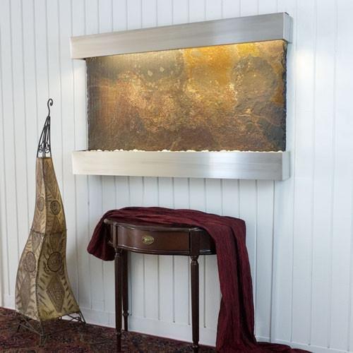 BluWorld Classic Quarry Horizontal Indoor Wall Fountain Raja Slate by Bluworld Fountains