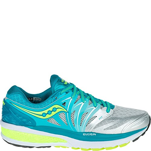 Saucony Women's Hurricane ISO 2 Running Shoe, Blue/Silver/Citron, 7 M US