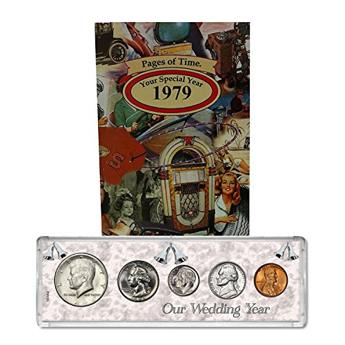 - 1979 Year Coin Set & Greeting Card : 40th Anniversary Gift - Our Wedding Year