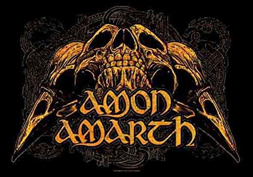 Lpgi Amon Amarth Skulls Fabric Poster