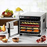 Magic Mill Commercial Food Dehydrator Machine | Easy Setup, Digital Adjustable Timer and Temperature Control | Dryer for Jerky, Herb, Meat, Beef, Fruit and To Dry Vegetables | Over Heat Protection | 6 Stainless Steel Trays