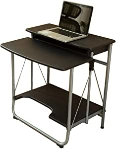 Foldable Desktop Computer Desk Portable Laptop Table Office Desk (Color : BLACK) (Color : Black)