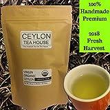 Virgin Organic Ceylon White Tea - Re-sealable Pouch (1.76 Oz| 25 Tea Cups) [loose leaf Tea, Herbal Tea, Detox Tea]