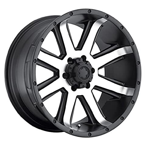 Ultra Crusher 17 Machined Black Wheel / Rim 6x5.5 with a 10mm Offset and a 106 Hub Bore. Partnumber 195-7883U
