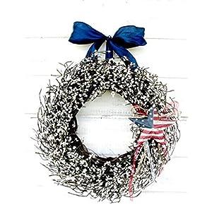 Patriotic Wreath, Summer Wreath, 4th of July Wreath, Military Wreath, Patriotic Wreath, July 4th Decor, Holiday Wreath,4th of July Wreath, Patriotic Home Decor, July 4th Decor, Military Christmas Gift 79