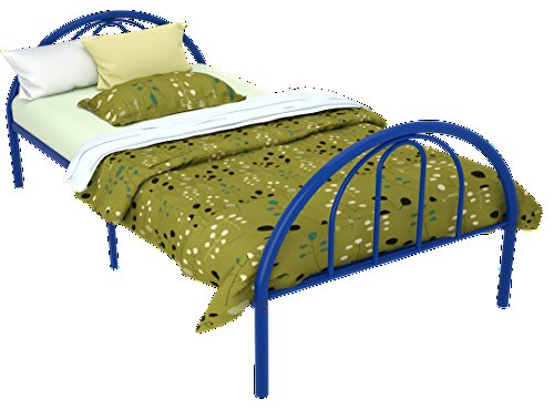 Brooklyn Metal Twin Bed (Blue) by Rack Furniture
