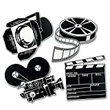 10 Hollywood Movie Night Party Decorations Mini MOVIE SET Die Cut CUTOUTS