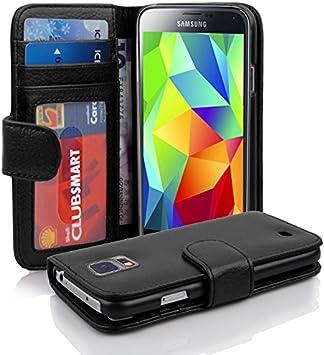 Cadorabo Funda Libro para Samsung Galaxy S5 / S5 Neo en Negro ÓXIDO - Cubierta Proteccíon con Cierre Magnético e 3 Tarjeteros - Etui Case Cover Carcasa: Amazon.es: Electrónica