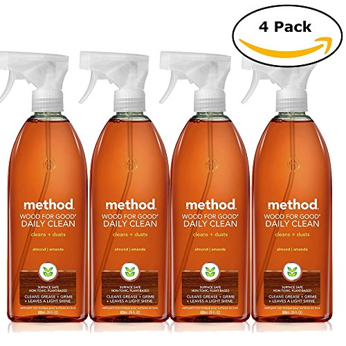 Method Daily Clean Wood For Good Daily Clean + Dust Almond 28 Oz, Pack of 4 (28 Oz x 4, Total 112 - Good Wood The Store