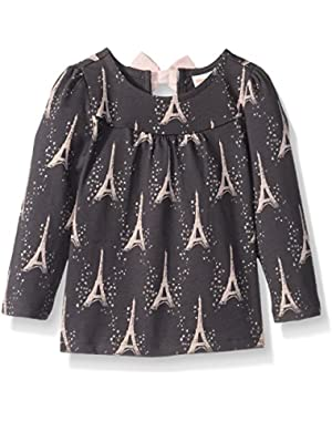 Baby Girls' Bunny Print Peplum Top