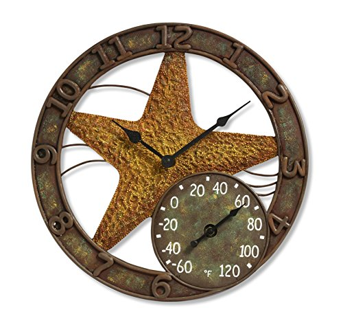 Springfield Starfish Resin Clock Thermometer