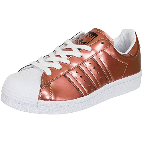 Unbekannt Copper Metallic White Weiß Femme Blanc Pour Baskets Running SwqraZS