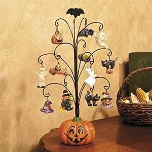amazon   halloween pumpkin tree with ornaments