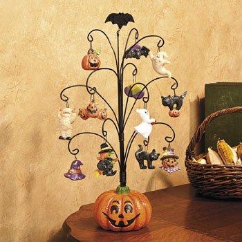 halloween pumpkin tree with ornaments decorative accessories - Halloween Tree Ornaments