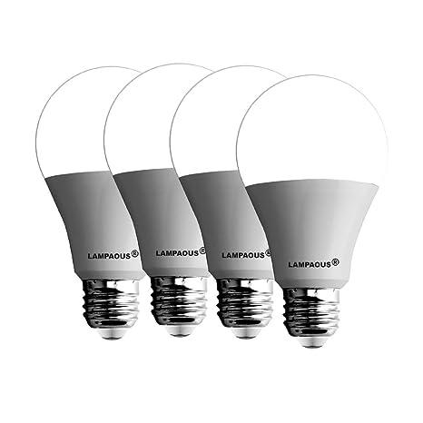 Lampaous® - Pack de 4 bombillas LED tipo globo de 12W A60