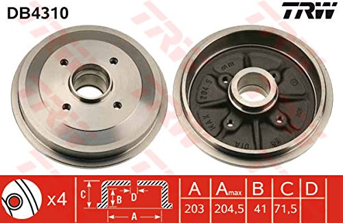 TRW DB4310 Brake Drums: