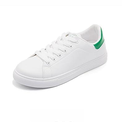 SHOES xiaolin Street Beat Kleine Weiße Schuhe Freizeit Hong Kong Style White Plate Schuhe (Farbe : Weiß, Größe : EU37/UK4.5-5/CN37)