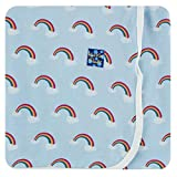 KicKee Pants Print Swaddling Blanket | Geology and Meteorology Collection | (One Size, Pond Rainbow)