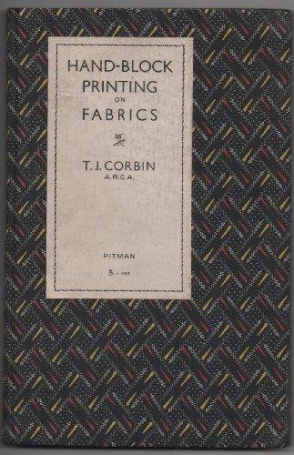 Hand block printing on fabrics,
