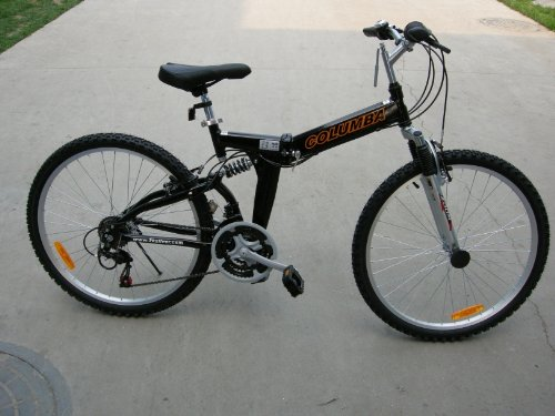 "Columba 26"" Alloy Folding Bike w. Shimano Black (RJ26A_BLK)"
