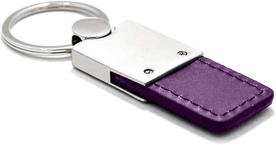 KC1740.SRTH.PUR Duo Premium Purple Leather Au-TOMOTIVE GOLD Compatible Keychain and Keyring for Dodge SRTH Hellcat